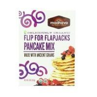Madhava Organic Pancake Mix with Ancient Grains  Flip for Flapjacks (6x16 OZ)