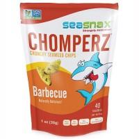 Seasnax Chomperz, Crunchy Seaweed Chips, Barbecue (8X1 OZ)