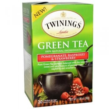 Twinings Green Tea Pomegranate, Raspberry & Strawberry (6x20 Ct)