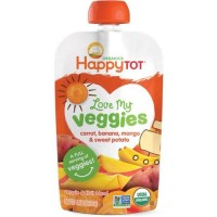Happy Tot Love My Veggies Organic Carrot Banana Mango And Sweet Potato Blend (16x4.22 OZ)