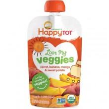 Happy Tot Love My Veggies Organic Carrot Banana Mango And Sweet Potato Blend (16x4.22 OZ)
