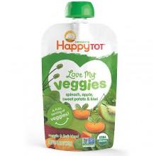 Happy Tot Love My Veggies Spinach Apple Sweet Potato & Kiwi (16x4.22 OZ)