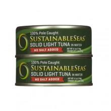 Sustainable Seas Wild Skipjack Solid Light Tuna No Salt (12x4.1 OZ)