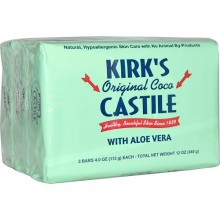 Kirk's Original SAloe Castile Bar  (1x3 PACK)