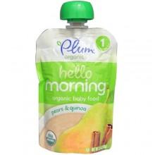 Plum Organics Hello Morning, Organic Baby Food, Pears & Quinoa (6X3.5 OZ)