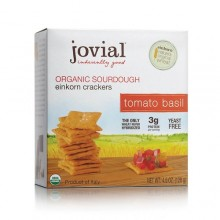 Jovial Tomato Basil Sourdough Einkorn Crackers (10x4.5 OZ)