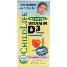 Childlife Essentials Organic Vitamin D3 Drops Berry - 400 IU - 0.388 fl oz