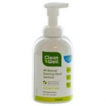 CleanWell All-Natural Foaming Hand Sanitizer - 8 oz