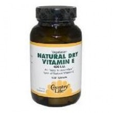 Country Life Natural Dry Vitamin E - 400 IU - 100 tablets