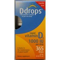 D Drops Liquid Vitamin D3 - 1000 IU - 0.34 fl oz