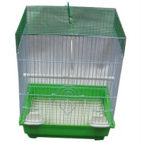 Iconic Pet - Flat Top Bird Cage - Small - Green