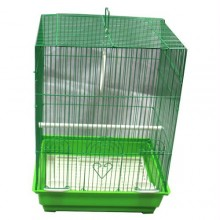 Iconic Pet - Flat Top Bird Cage - Medium - Green