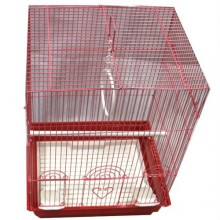 Iconic Pet - Flat Top Bird Cage - Medium - Red