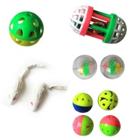 Iconic Pet - Fur mice Plastic Roller & Plastic Balls - Set of 5