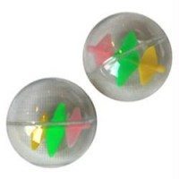 Iconic Pet Plastic Ball With Windmill Inside - 2 Pack - Assorted