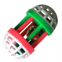Iconic Pet Plastic Roller With Bell - 1 Pack - Assorted