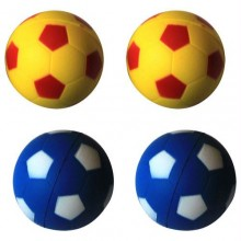 Iconic Pet Bouncing Sponge Football - 4 Pack - Yellow/Blue