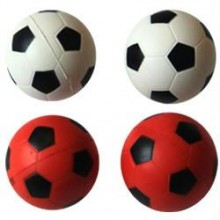 Iconic Pet Bouncing Sponge Football - 4 Pack - Red/White