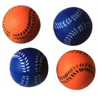 Iconic Pet Bouncing Sponge Softball - 4 Pack - Blue/Orange