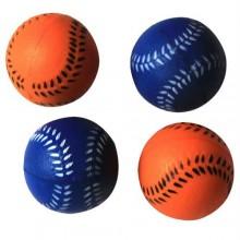 Iconic Pet Bouncing Sponge Softball - 4 Pack - Blue/Orange