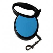 Iconic Pet Small Retractable Dog Leash with Side Cover Plates - Blue