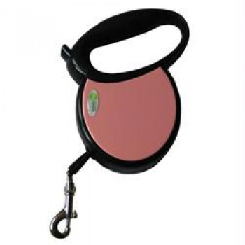 Iconic Pet Medium Retractable Dog Leash with Side Cover Plates - Pink