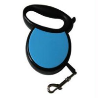 Iconic Pet Medium Retractable Dog Leash with Side Cover Plates - Blue