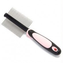 Iconic Pet - Double Sided Pin Comb - Pink