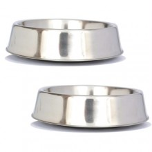 2 Pack Anti Ant Stainless Steel Non Skid Pet Bowl for Dog or Cat - 64oz - 8 cup