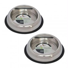 2 Pack Heavy Weight Non-Skid Easy Feed High Back Pet Bowl for Dog or Cat - 64oz - 8 cup
