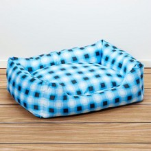 Iconic Pet - Standard Square Bed - Blue - Medium