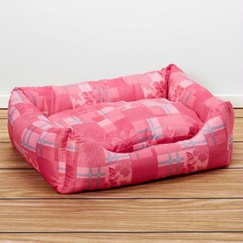 Iconic Pet - Standard Square Bed - Pink - Large