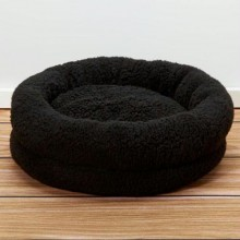 Iconic Pet - Premium Snuggle Bed - Black - Small