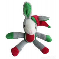Iconic Pet Christmas Rabbit with Tennis Ball Squeaky Holiday Pet (Dog) Stuffed Toy