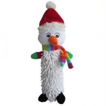 Iconic Pet Christmas Snowman Noodle Plush Stuffed Squeaky Holiday Pet (Dog) Toy