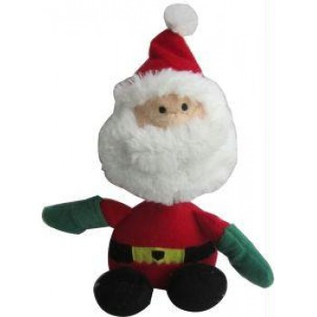 Iconic Pet Santa Claus Plush Rope/Squeaky Christmas Pet (Dog) Holiday Toy