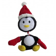 Iconic Pet Christmas Penguin Plush Rope/Squeaky Holiday Pet (Dog) Toy