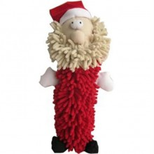 Iconic Pet Christmas Santa Claus Stuffed Squeaky Holiday Soft Noodle Pet (Dog) Toy