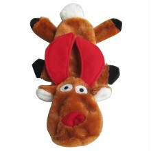 Iconic Pet Christmas Reindeer Flat Pet (Dog) Holiday Toy