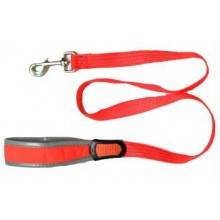 Iconic Pet Reflective Nylon Leash - Orange - Medium