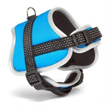 Iconic Pet Reflective Adjustable Nylon Harness - Blue - Xsmall
