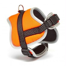 Iconic Pet Reflective Adjustable Nylon Harness - Orange - Xsmall
