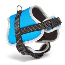 Iconic Pet Reflective Adjustable Nylon Harness - Blue - Small