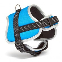 Iconic Pet Reflective Adjustable Nylon Harness - Blue - Medium
