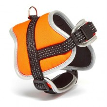 Iconic Pet Reflective Adjustable Nylon Harness - Orange - Medium