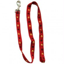 Iconic Pet Paw Print Leash - Red - Xsmall
