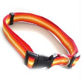 Iconic Pet - Rainbow Adjustable Collar - Yellow - Medium