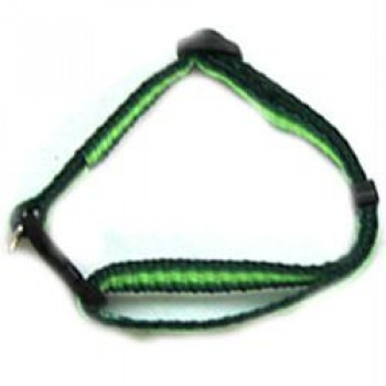 Iconic Pet - Rainbow Adjustable Collar - Green - Large