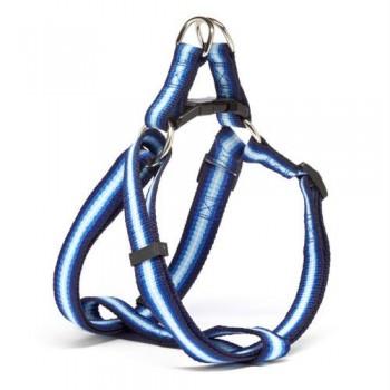 Iconic Pet Rainbow Adjustable Harness - Blue - XSmall
