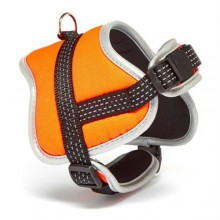 Iconic Pet Reflective Adjustable Nylon Harness - Orange - Large